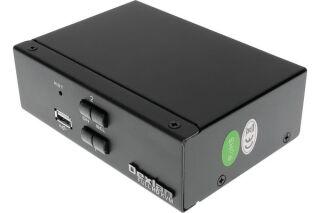KVM switch 2 ports HDMI 4K / USB / Audio + câbles