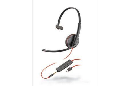 PLANTRONICS Blackwire C3215 casque USB-C+Jack -1 écouteur