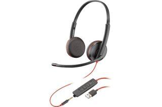 PLANTRONICS Blackwire C3225 casque USB-A+Jack -2 écouteurs