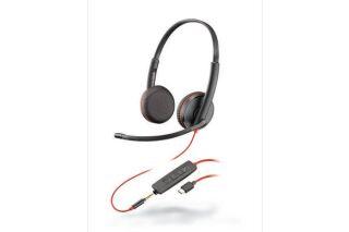 PLANTRONICS Blackwire C3225 casque USB-C+Jack -2 écouteurs