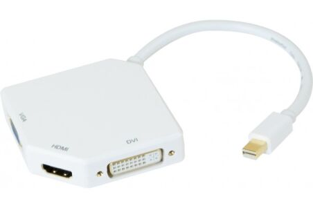 CONVERTISSEUR miniDisplayPort 1.2 vers DVI OU HDMI OU VGA