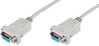 DIGITUS Câble null modem, 9 broches Sub-D, 3,0 m