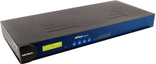 MOXA Industrial Ethernet Serial Device Server 19', 8 ports,