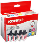 Kores Multi-Pack encre G1525KIT remplace brother LC-123BK/