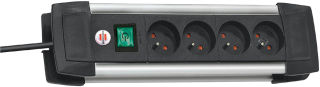brennenstuhl Multiprise 'Premium-Alu-Line', 4 prises,