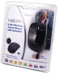 LogiLink Mini souris optique pour notebook, sans fil, noir