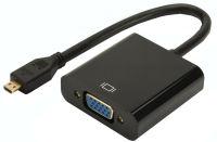 DIGITUS convertisseur Micro HDMI vers VGA, noir