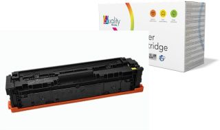 hp Toner no. 201A CF402A pour hp Color LaserJet, jaune