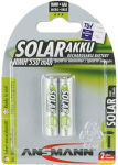 ANSMANN Batterie NiMH SOLAR, Micro AAA, 550mAh, blister de 2