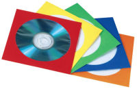 hama Pochette papier pour CD/DVD, couleurs assorties