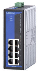 MOXA Unmanaged Industriel Gigabit Ethernet Switch, 8 ports