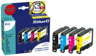 Pelikan Multi-pack encre 4109972 remplace brother LC124BK/