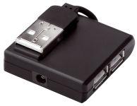 DIGITUS hub USB 2.0, 4 ports, noir