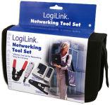 LogiLink Kit d'outils pour réseau, dans un sac noir