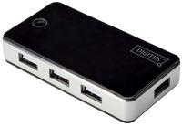 DIGITUS Hub USB 2.0, 7 ports, avec bloc d'alimentation, noir