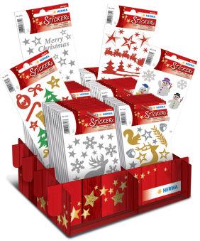 HERMA Autocollants de Noël MAGIC 'brillant & pailletté',