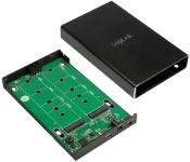 LogiLink Boîtierpour disque dur M.2 SATA avec fonction RAID