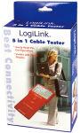 LogiLink Testeur de câble  5 en 1, avec une unité émettrice
