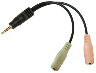 LogiLink Câble audio, jack mâle - 2 x jack femelle