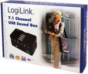 LogiLink Sound Box USB 7.1, 8 canaux, noir