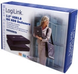 LogiLink Boîtier pour disque dur IDE 2,5', USB 2.0, noir