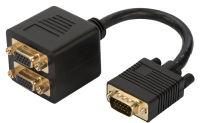 DIGITUS Câble répartiteur 15 broches Sub-D en Y