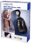 LogiLink Mini souris optique pour notebook avec un câble