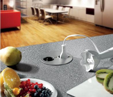 BACHMANN Multiprises encastrable pour table Twist,2 x UTE FR