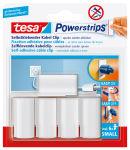 tesa Powerstrips Fixation adhésive pour câble, blanc