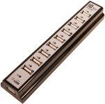 LogiLink Hub USB 2.0 avec bloc d'alimentation, noir, 10