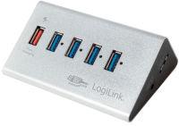 LogiLink Hub USB 3.0 avec bloc d'alimentation, 4 ports + 1