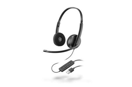 PLANTRONICS Blackwire C3220 Black casque USB-A - 2 écouteurs