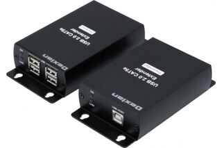 Prolongateur  USB 2.0 sur IP Gigabit + HUB 4 ports