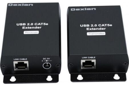 Prolongateur  USB 2.0 sur IP Gigabit + HUB 4 ports