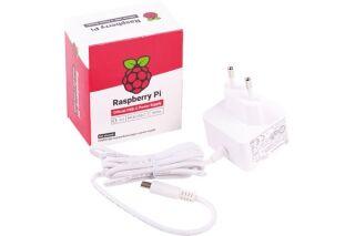 Alimentation blanche officielle USB Type-C  pour Raspberry Pi 4 B