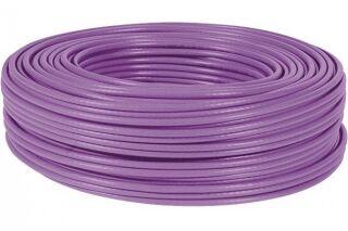 câble double monobrin F/FTP CAT6A violet LS0H RPC Eca - 100 m