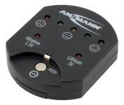 ANSMANN Testeur de piles/batteries, pour piles boutons, noir