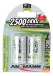 ANSMANN Batterie NiMH, Baby C, blister de 2, 2.500 mAh