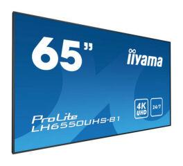 IIYAMA afficheur professionnel 65 LH6550UHS-B1 4K UHD 24/7 HP