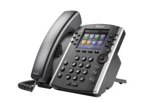 POLY VVX 411 téléphone bureau IP Gigabit PoE - 12 lignes SIP