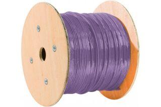 câble double monobrin F/FTP CAT6A violet LS0H RPC Eca - 500 m