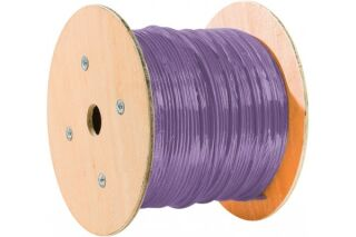 double mono f/ftp CAT6A violet LS0H rpc eca - 500M