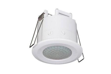 Détecteur de mouvement Ø62 mm blanc 1200 W 360° à encastrer
