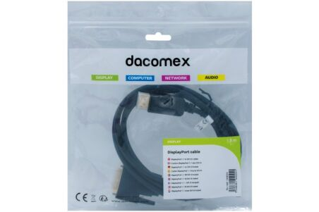 DACOMEX Sachet cordon DisplayPort 1.1 vers DVI-D - 1,8 m