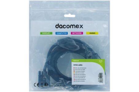 DACOMEX Sachet cordon SVGA avec ferrites - 3,0 m