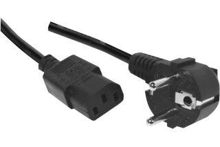 DACOMEX Sachet cordon d'alimentation PC CEE7 / C13 noir - 1,8 m