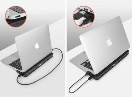 Docking Station USB 3.0 Double écran HDMI+DVI/VGA LAN Hub 3 ports USB