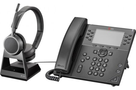 POLY Voyager 4220 Office Casque 2 écout. Base TEL/GSM
