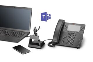 POLY Voyager 5200 Office Teams Oreillette Base TEL/GSM/USB-A
