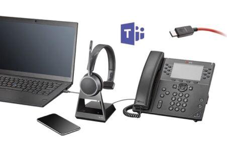 POLY Voyager 4210 Office Teams Casque 1 écout. TEL/GSM/USB-C